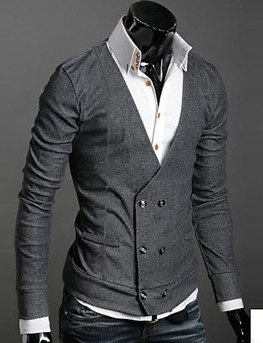 CU@EY V Neck Uomo Fibbia Maglioni , black , l