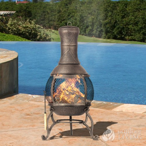 ceramic chiminea