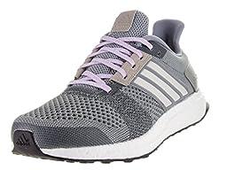 adidas Performance Women\'s Ultra Boost Street Running Shoe,Grey/White/Glow Purple,9.5 M US