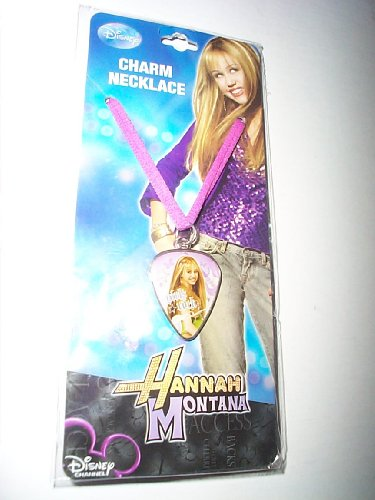 Hannah Montana Guitar Pick Charm Necklace - 1