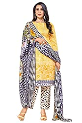 Lebaas Pakistani Style Salwar Suit Dupatta Material (Un-stitched) - (With Discount and Sale Offer)