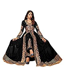 Poonam Fab-Unstitch Dress Material_Begam_Black