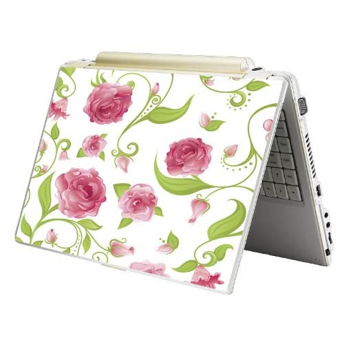 Bundle Monster Laptop Notebook Skin Sticker Cover Art Decal   12 14 15   Fit HP Dell Asus Compaq   Pink Roses