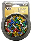 A&W Products Mesh Tub Push Pins, Assorted Colors, 150-Count (34073)