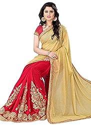 Khushi Trendz Georgette Red Designer Saree