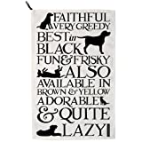 Emma Bridgewater - Black Toast Labrador Tea Towel NEW WITH TAGS