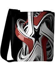 Snoogg Red And White Star Designer Womens Carry Around Cross Body Tote Handbag Sling Bags