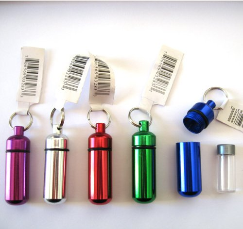 Small Pill/ID Holder Keychain (Assorted Colors)