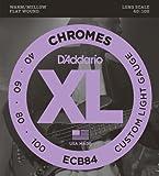 51Jb6GVy66L. SL160  DAddario ECB84 Chromes Bass Guitar Strings, Custom Light, 40 100, Long Scale