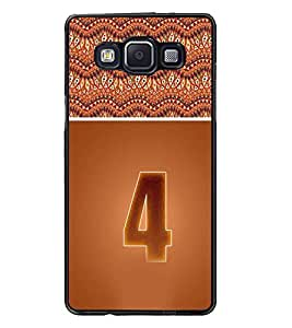 PrintDhaba Numerology Number 4 D-3636 Back Case Cover for SAMSUNG GALAXY E5 (Multi-Coloured)