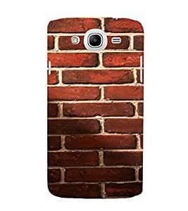 PrintVisa Red Brick Pattern 3D Hard Polycarbonate Designer Back Case Cover for Samsung Galaxy Mega 5.8