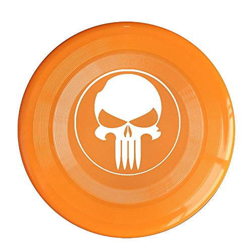 YQUE56 Unisex Game Logo Skull Outdoor Game Frisbee Sport Orange (Battlefield Bad Company 2 Ps4 compare prices)