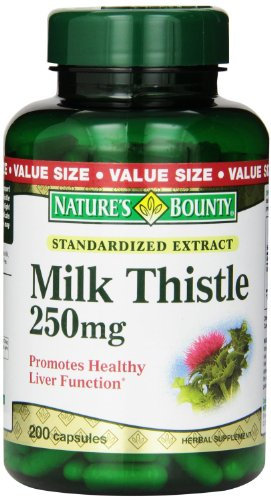 Natures-Bounty-Value-Size-Milk-Thistle-250mg-200-Gelatin-Capsules