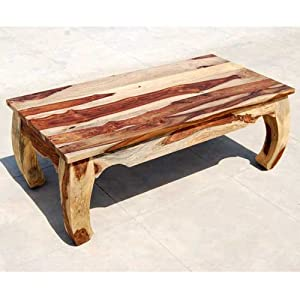 Large rustic unique wood sofa cocktail coffee for Coffee tables on amazon