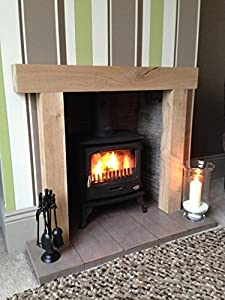 Chunky Solid Oak Fireplace Oak Beam Fire Surround Mantle Kitchen Home