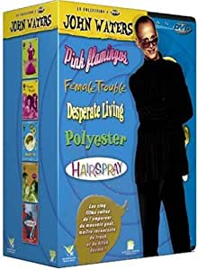 Coffret John Waters 4 DVD : Pink Flamingos / Desperate living / Female trouble / Polyester - Hairspray [FR Import]