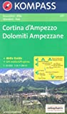 Cortina d'Ampezzo - Dolomiti Ampezzane (Italy, Alps) 1:25,000 Hiking Map, laminated, GPS-compatible KOMPASS