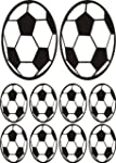10 x Football stickers transfers viny...