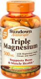 Sundown Triple Magnesium Tablet, 500 mg, 120 Count