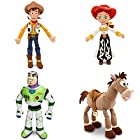Toy Story - 4 Piece Medium Plush Doll Combo Set with Woody 18