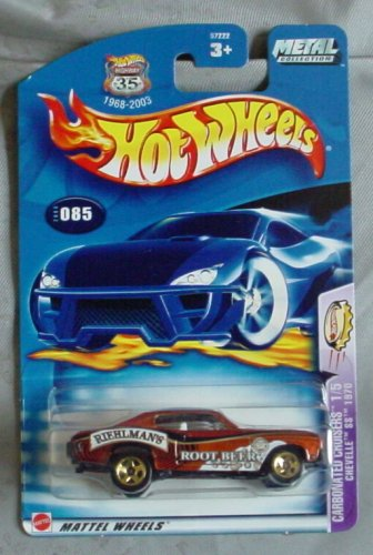 Hot Wheels 2003 Carbonated Cruisers 1/5 Chevelle SS 1970 #085 #85 GOLD 1:64 Scale - 1