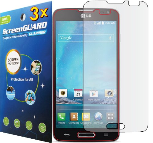 3X Lg Optimus L90 D405 D415 (T-Mobile) Premium Clear Lcd Screen Protector Guard Shield Cover Film Kit (Guarmor Brand)