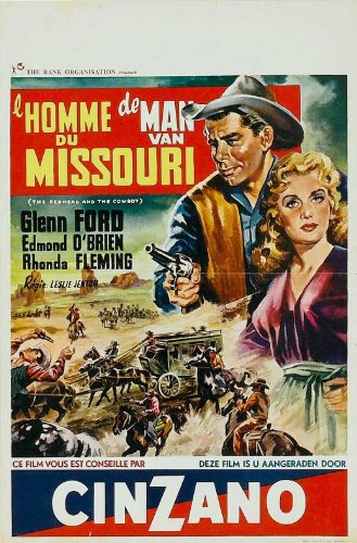 the-redhead-and-the-cowboy-poster-11-x-17-inches-28cm-x-44cm-1951-belgian-style-a