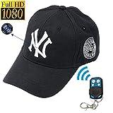 Mini camera 1080P HD NY Baseball cap model SPY Hidden Camera Video recorder mini DV DVR Spy cam Surveillance Remote control hats Cameras
