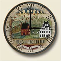 There's No Place Like Home Wood Wall Clock