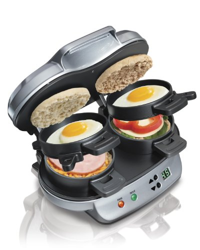 New Hamilton Beach 25490 Dual Breakfast Sandwich Maker