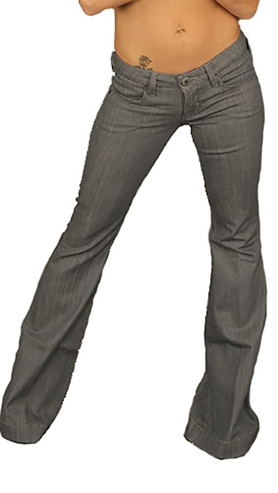 Hudson Jeans Women's Reilly Flare Grey Denim in OSL