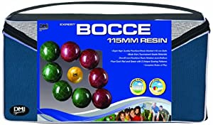 Buy DMI Sports Expert Bocce Ball Set with Easy Carry Nylon Case (9-Piece) by Verus Sports