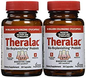 Master Supplements Theralac - 2 Bottles of 30 Count Ea ( Total 60 Count )