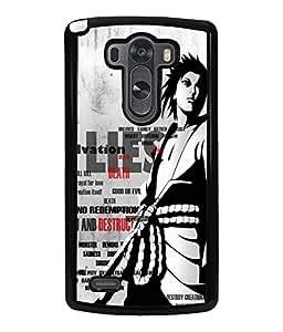 Printvisa 2D Printed Designer back case cover for LG G3 - D4338