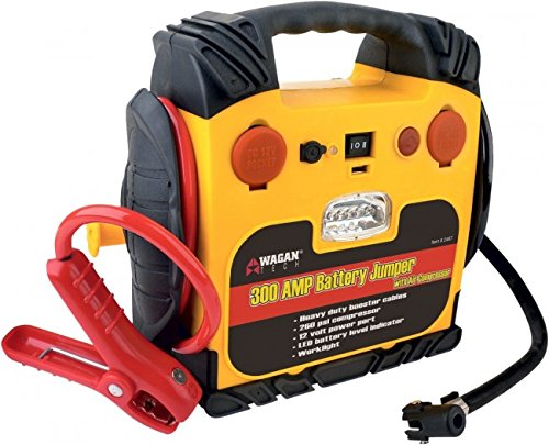 Durable Powerful Wagan 300Amp Jump Starter With Air Compressor