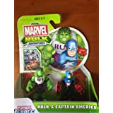 Marvel Playskool Super Hero Adventures Mini Figure 2-Pack Hulk & Captain America