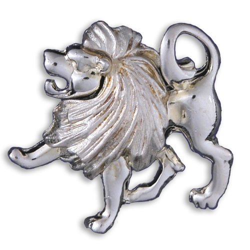 Zodiac Brooch Silver Finish - Leo