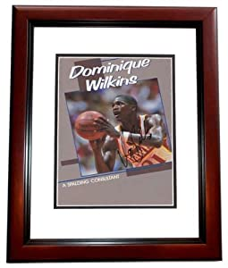 Dominique Wilkins Autographed Hand Signed Atlanta Hawks 8x10 Photo MAHOGANY CUSTOM... by Real Deal Memorabilia