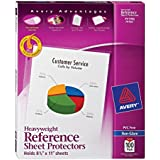 Avery 74102 Top loading non-glare poly sheet protectors, heavy, 100 per box