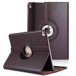 Wellmart Premium 360 Degree Rotating PU Leather Flip Case For Apple iPad Pro 9.7 Inch (Brown)