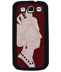 PRINTVISA Premium Metallic Insert Back Case Cover for Samsung Galaxy Grand Quattro - I8552 - D6057