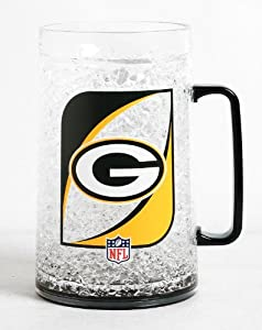 NFL Green Bay Packers 36-Ounce Crystal Freezer Monster Mug by Duck House