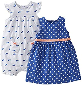 Carters Baby Girl Tank Dress - 3 Piece Set w/Diaper Cover