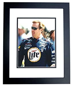 Rusty Wallace Autographed Hand Signed Racing 8x10 Photo - BLACK CUSTOM FRAME by Real Deal Memorabilia