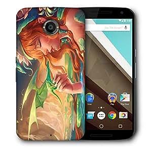 Snoogg Dragon Angel Designer Protective Back Case Cover For Motorola Nexus 6