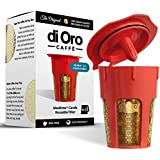 MaxBrew 24K Gold Reusable K-Carafe Filter for Keurig 2.0 - Refillable 4-5 Cup Filter for Keurig 2.0: K200, K300, K400, K500 Series with Lifetime Guarantee