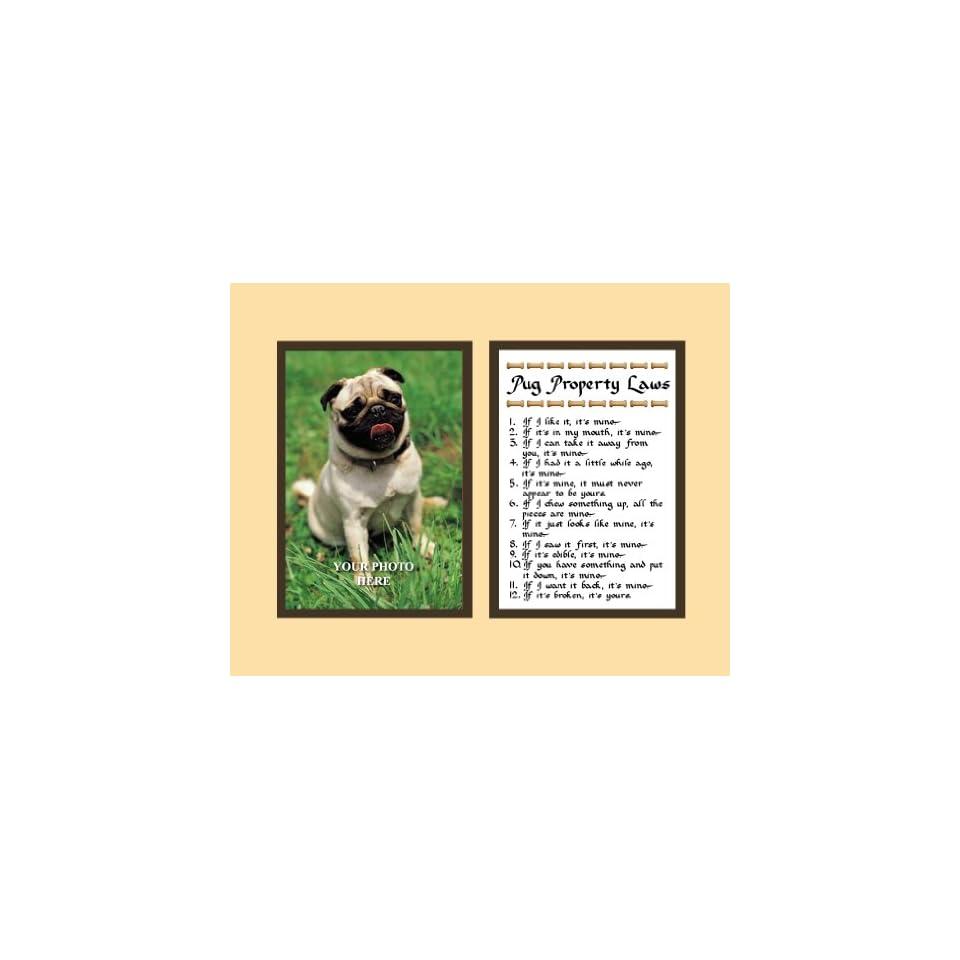Stupell yorkie dog 3 panel decorative fireplace screen - Pug Property Laws Wall Decor Pet Saying Dog Saying Pug Saying