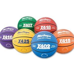 Buy MacGregor Outdoor Rubber 27.75 Junior Size Multicolor Basketballs Color: Blue (MCBBX402) by MacGregor