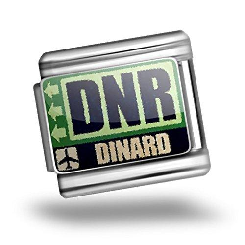 Italian Charm Airportcode Dnr Dinard Bracelet Link - Neonblond