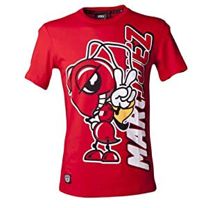 Official Marc Marquez 93 Cartoon Ant Moto GP T-Shirt Red